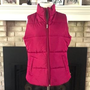 Made for Life Fuchsia Puffer Vest size Small